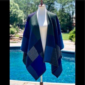 Coldwater Creek color block wool blend wrap